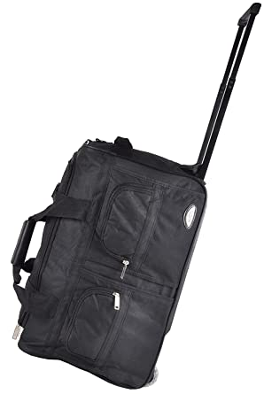 bfc76e3f6c Image Unavailable. Image not available for. Color  Hipack Deluxe  22 quot -inch Carry-On Rolling Duffle Bag Black. Roll over image to zoom in