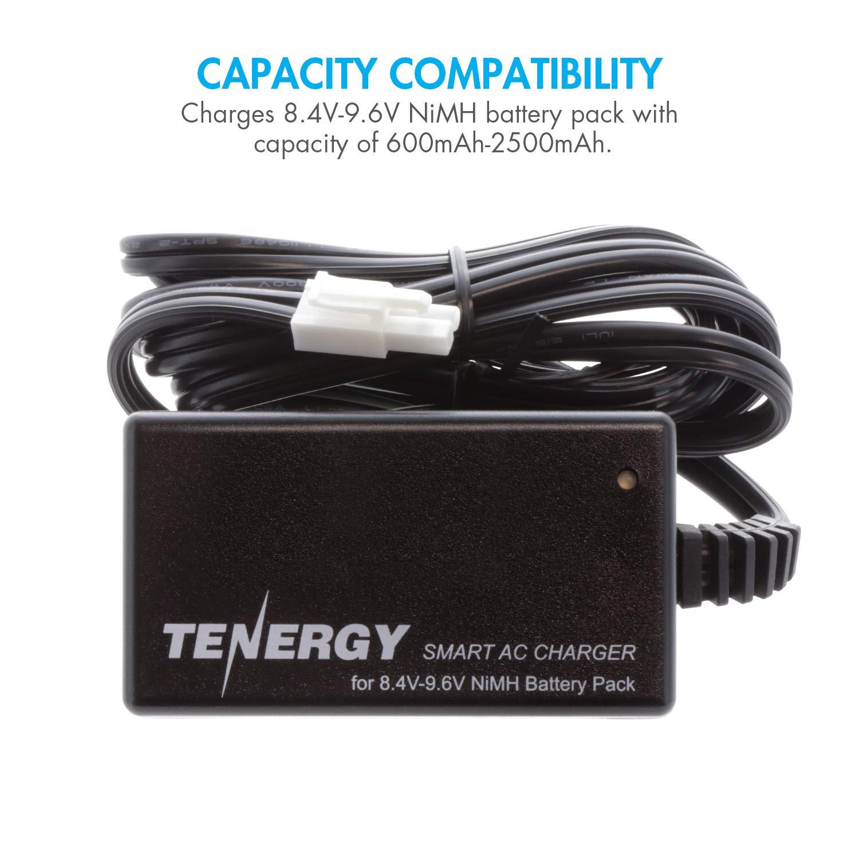 Tenergy Smart Charger for 8.4V-9.6V NiMH Battery Packs w/Mini Tamiya Connector + Standard Tamiya Adapter