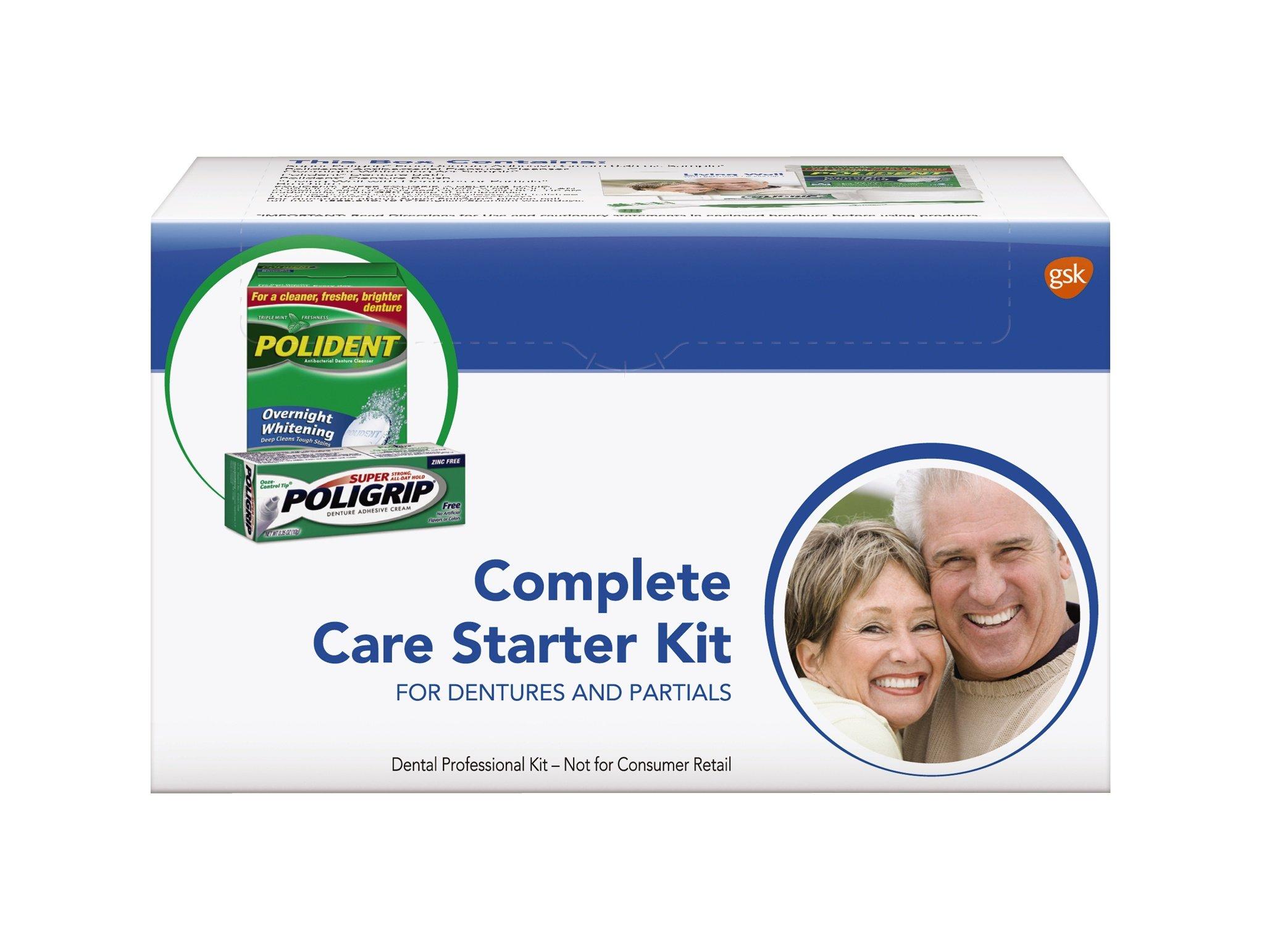 GSK POLICARE Denture Essentials Complete Care Kit Case/12