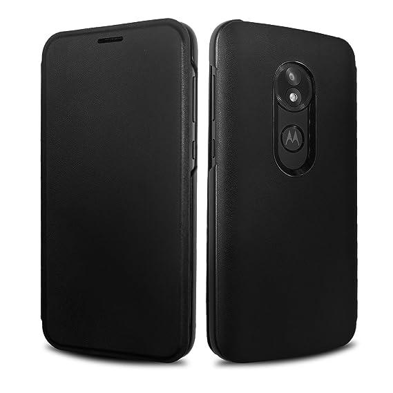 differently 13961 30e84 Moto E5 Play Flip Case, Lenovo Original Flip Cover with Card Slot  Shockproof Edge Protective Slim Folio Flip Case for Moto E5 Play