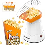 Electric Hot Air Popcorn Popper for Home Movie Theater, Low Fat Popcorn Maker, Popcorn Machine Without Oil For Office,Family, Kids