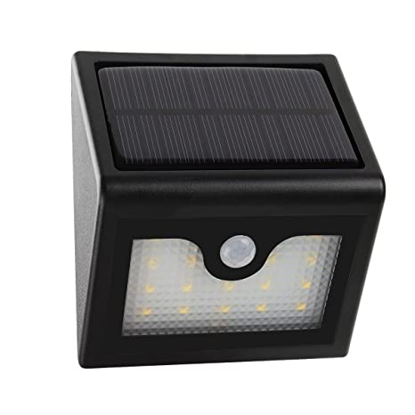 MEIKEE Luz solar LED 300LM, Luz de Sensor de Movimiento 16 LED, Solar Luces