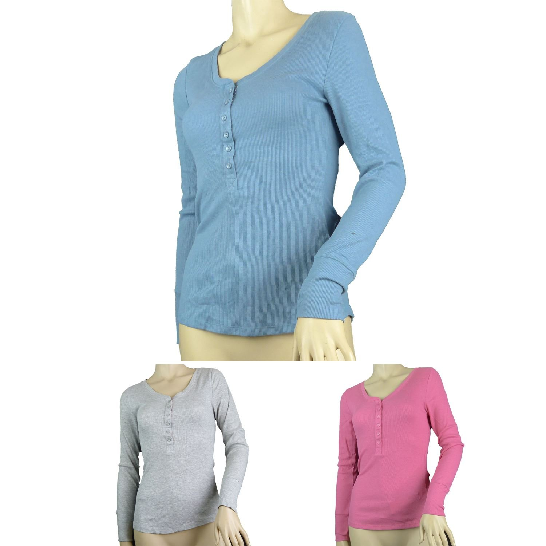 Fa M ou S Store Henley Neck Pyjama Top (3 Colour Choices)
