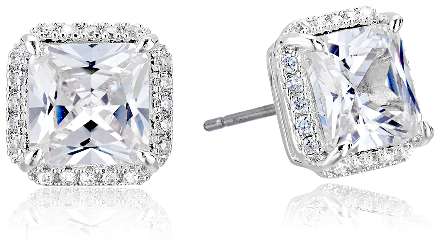 """kate spade new york""""Pave Princess Cut Studs"""" Save The Date Earrings"""