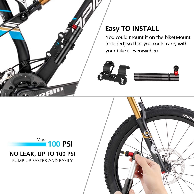 GW Multi-functional Portable Bicycle Cycling Bike Air Pump Tyre Tire Ball Tube