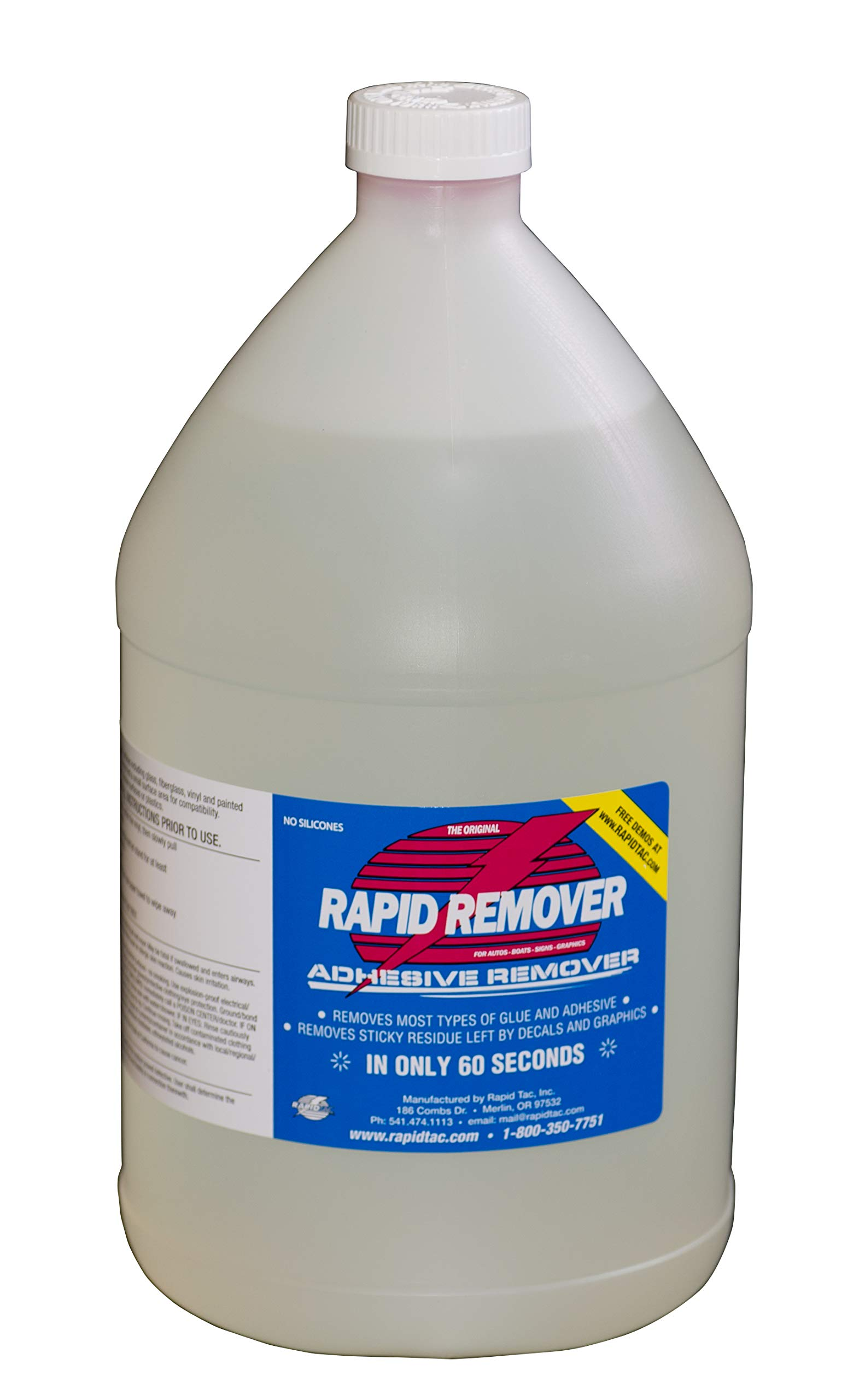 RapidTac RAPID REMOVER Adhesive Remover for Vinyl Wraps Graphics Decals Stripes 1 Gallon Bottle