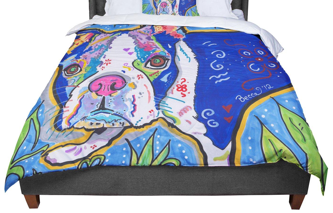 KESS InHouse Rebecca Fischer Addy Mae Pug Terrier Twin Comforter 68 X 88