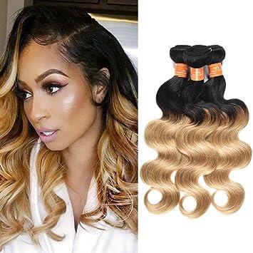 bc5d96f6c52 Women's Day Gifts Peruvian Ombre Bundles Human Hair 3 Bundles 12 14 16 inch  2 Tone Black to Blonde...