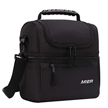 Amazon.com: MIER - Bolsa de almuerzo para adultos, con ...