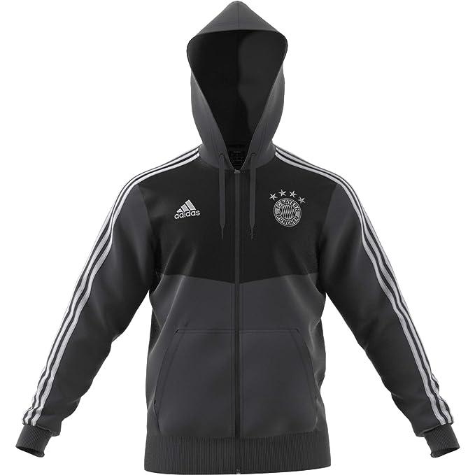 adidas FC Bayern 3s Full Zip Hoodie Chaqueta con Capucha ...