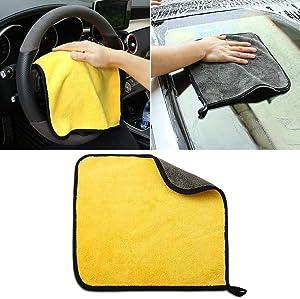 3030CM Car Wash Microfiber Towel Car Cleaning Drying Cloth for Alfa Romeo 147 156 159 Alfetta Berlina Brera Mito Giulia Milano