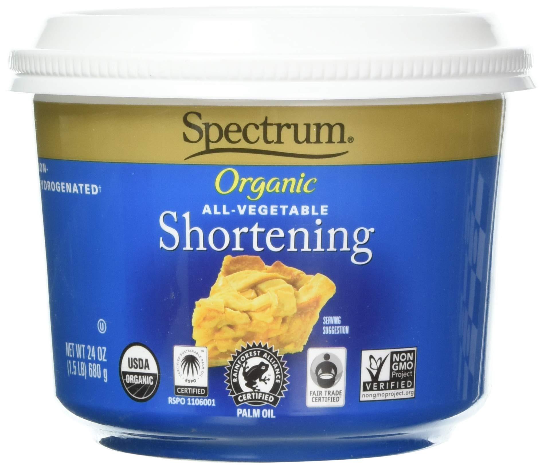 Spectrum Naturals Organic Shortening, All Vegetable, 24 oz by Spectrum