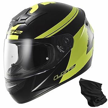 LS2 Ff352 Fluo negro moto casco-Vis amarillo XL