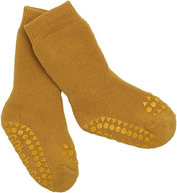 | Dark Grey ABS Non-Slip Unterst/ützung F/ür Aktive Kinder Im Krabbelalter 1-2J GoBabyGo Original Rutschfeste Baby Krabbel Socken Dicke Baumwollstretch 20-22cm