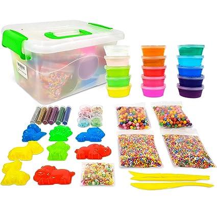 ac67c10ef Big Crystal DIY Slime Kit for Kids - 15 Colors Super Slime Supplies Pack -  Ultimate