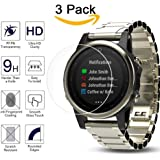 Screen Protector for Garmin Fenix 5S, (3 Pack) Kimilar Full Coverage 9H Hardness Tempered Glass Screen Protector for Garmin Fenix 5s Smart Watch with Anti-fingerprint Bubble-Free Crystal Clear-42mm