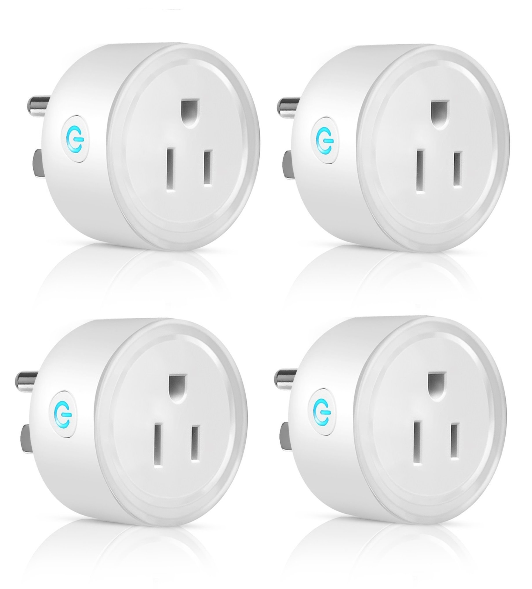 Mini Smart Plug WiFi Enabled,Wireless Outlet, Amazon Alexa Compatible, Google home Assistant Compatible, No Hub Required, Timing Function, Remote Control Smart Home Device 4 Pack