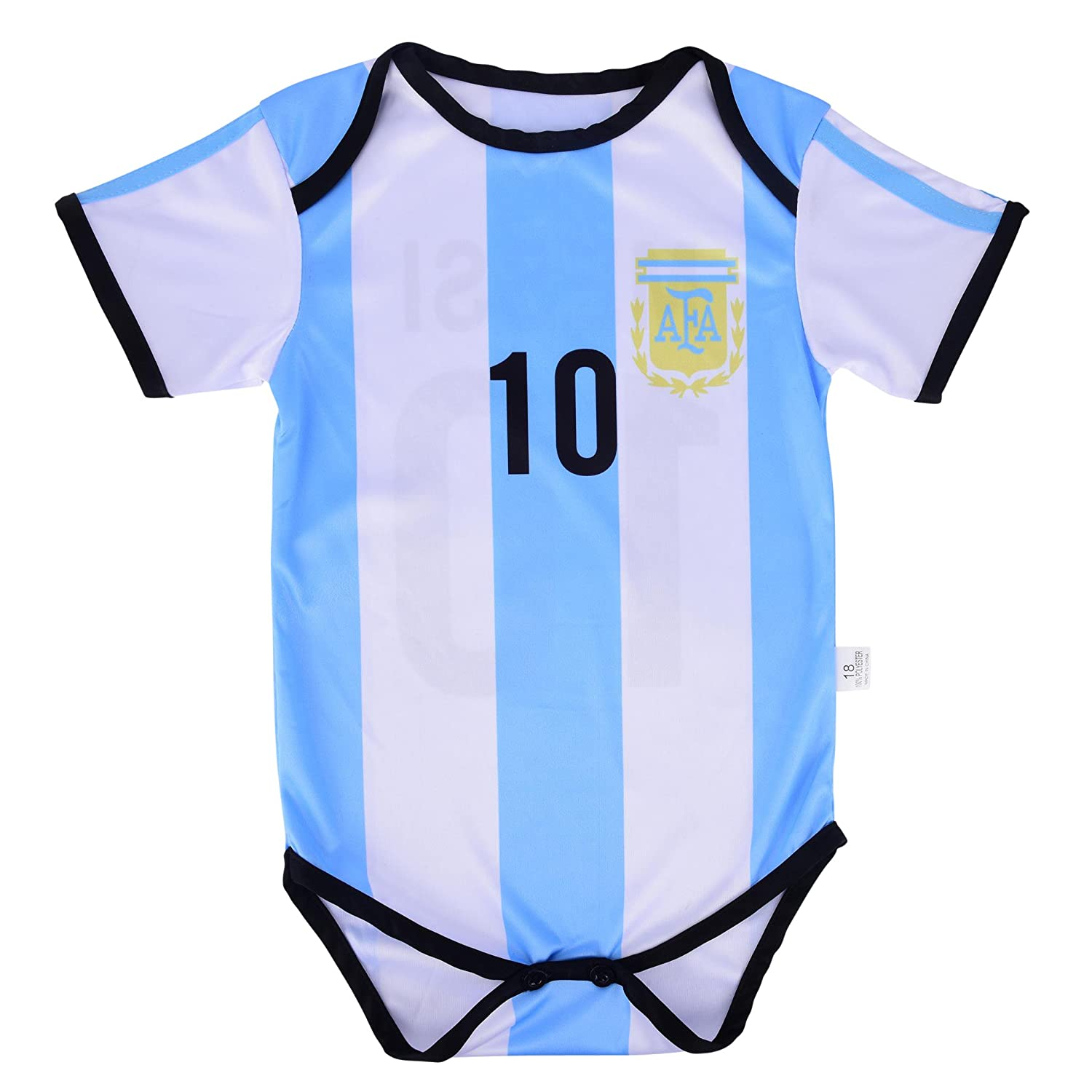 5af239aa6 Amazon.com   Leo Messi  10 Argentina Soccer Jersey Baby Infant   Toddler  Onesie Romper Premium Quality   Sports   Outdoors