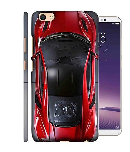 official photos a2c39 800f9 Printfidaa Red Car Top View Design Oppo A77 Back Cover: Amazon.in ...