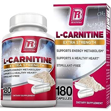 BRI L-Carnitine - 180 Tables 1000mg per Serving Premium Quality Carnitine  Amino Acid Natural 5de6facba8d4
