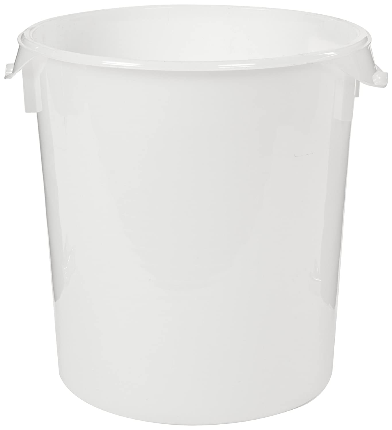 Rubbermaid Commercial Products Plastic Round Food Storage Container for Kitchen/Food Prep/Storing, 22 Quart, White, Container Only (FG572800WHT)
