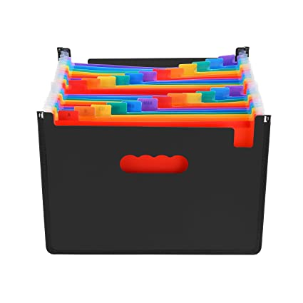 Archivero Expandible de 24 Compartimientos, Organizador de Documentos AGPtEK A4 de Gran Capacidad con Base