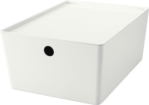 KUGGIS caja con tapa apilable organizador de almacenamiento de ...