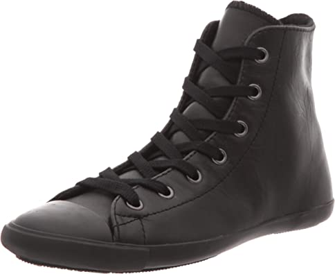 Converse All Star Light Leather Hi, Basket mode femme - Noir ...