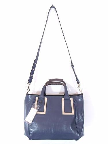 913c8094df Amazon.com  BESSO Blue Leather Luxury Italian Handbag Shoulder Bag Purse   Shoes