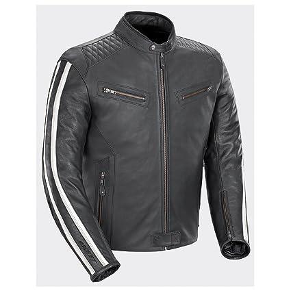 1f6212c3e Amazon.com: Joe Rocket Vintage Rocket Mens Black/White Leather Jacket -  Medium: Automotive