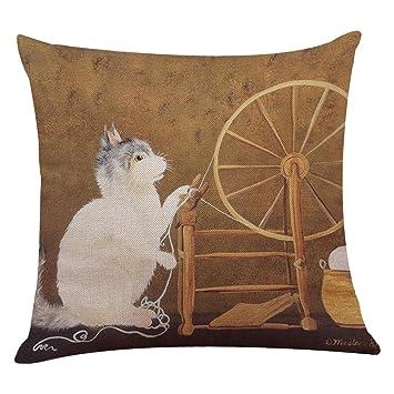 Amazon.com: challyhope Fashion Lovely Cat Sofá Cama ...