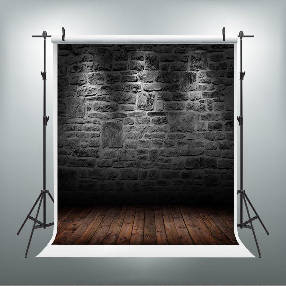 5 x 7ft telón de fondo oscuro Muro de ladrillos Telón de fondo fondo de fotografía para bebé de pared para suelos de madera para fotógrafos j01209: Amazon.es: Belleza