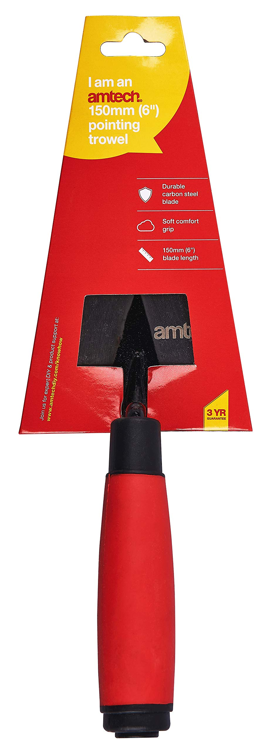 Amtech 6 Inch Steel Pointing Trowel With A Lacquered Finished Wooden Handle