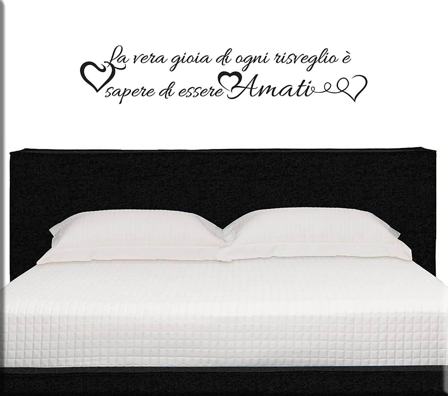 adesivi murali wall stickers frasi camera da letto: amazon.it ... - Stickers Murali Camera Da Letto