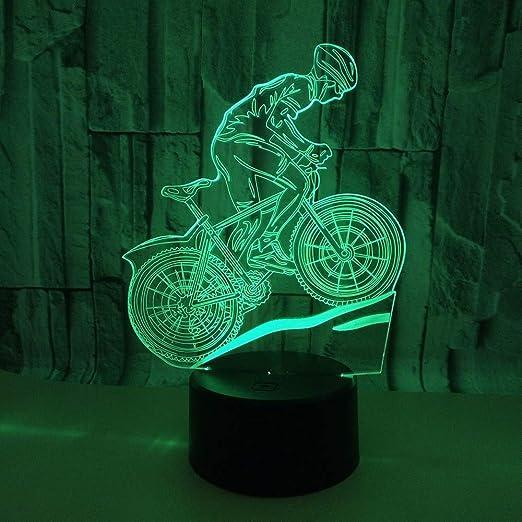 WJPDELP-YEDE 3D Bicicleta de montaña Luz de Video con luz táctil ...