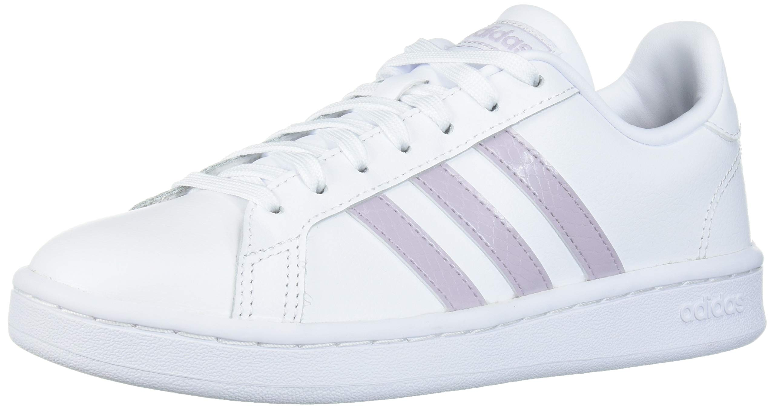 adidas Women's Grand Court Track and Field Shoe, ftwr white/mauve/grey two, 9 Standard US Width US