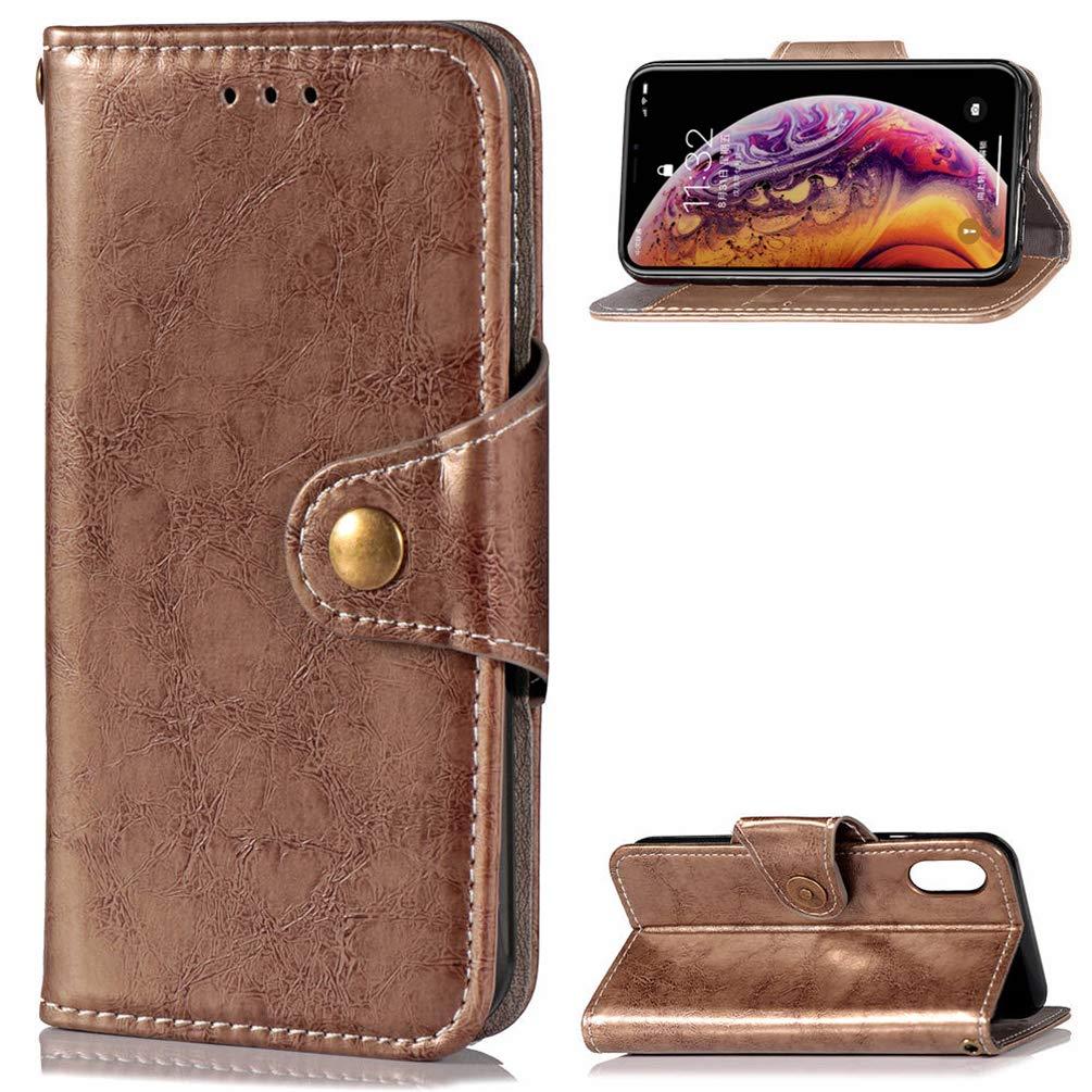 Mlorras iPhone XR Hülle, PU Leder Wallet Case Cover Klappbares Magnetverschluß Holder Handyhülle Brieftasche Schutzhülle Klappen mit Integrierten Kartensteckplätzen schwarz MM/S92LL/75