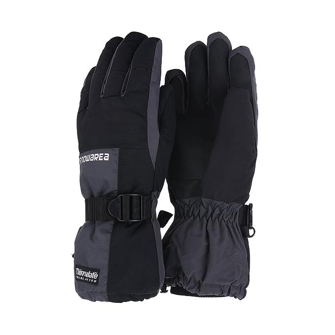 c29c6a6e49fe Unistrengh Mens Ski Snowboard Gloves Windproof Waterproof Warmest Mittens  for Skiing Snowboarding