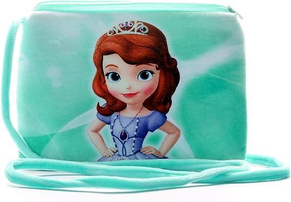 HC Toys Llp Rapunzel Princesses Soft Canvas Material Sling Bag for Girls (Green)