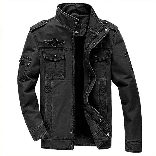 MRstriver Jacket German Army Classic Parka Military Combat Mens Jacket Mens Army Combat Uniform Coat Black