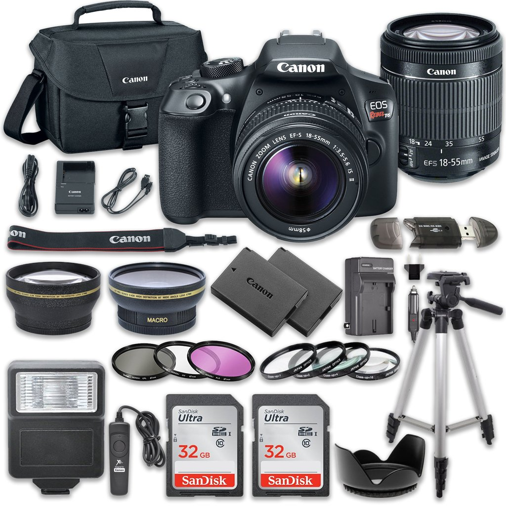 Amazon.com : Canon EOS Rebel T6 DSLR Camera Bundle with Canon EF-S ...