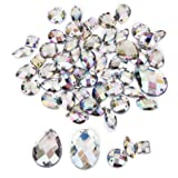 b3675156f140 P Prettyia 50 Unidades Botones Cristal Botones de Costura para  Manualidades