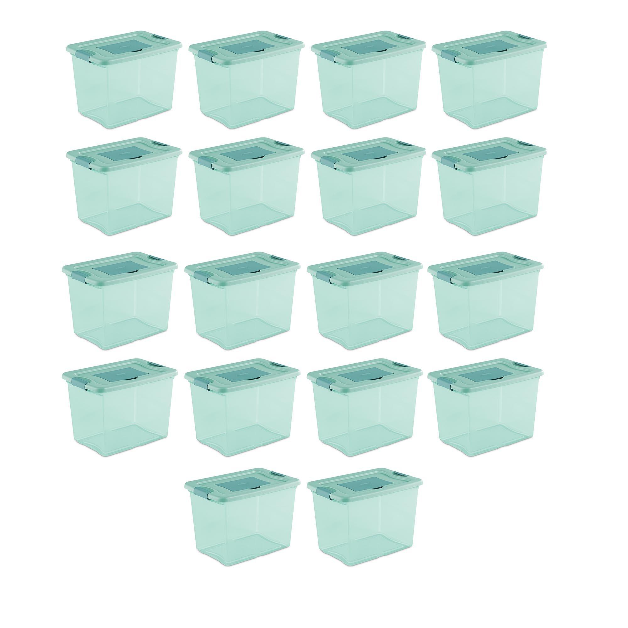 Sterilite 25 Quart Fresh Scent Stackable Plastic Storage Box Container (18 Pack)
