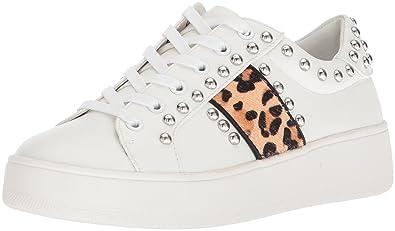 4b1d8d79235 Steve Madden Women s Belle Sneaker Leopard Multi 9.5 ...
