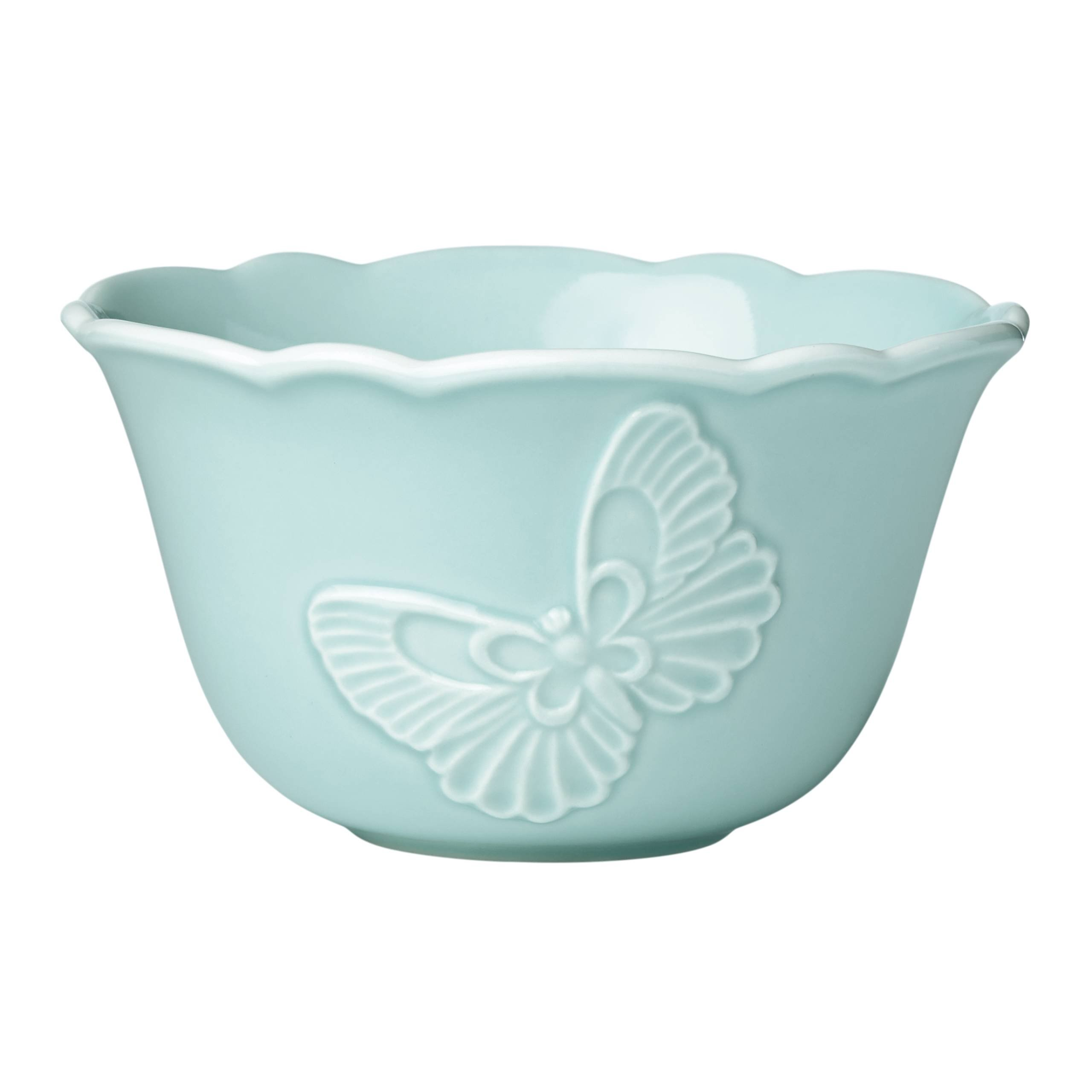 Lenox Butterfly Meadow Carved Blue Rice Bowl