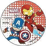 デルフィーノ ディズニー マーベル 缶バッジ アイアンマン&キャプテン・アメリカ DZ-80174