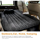 Car/SUV Inflatable Air Mattress, PVC Waterproof Back Seat Rest Cushion Air Bed for Camping/ Travel with Air Pump, Gray