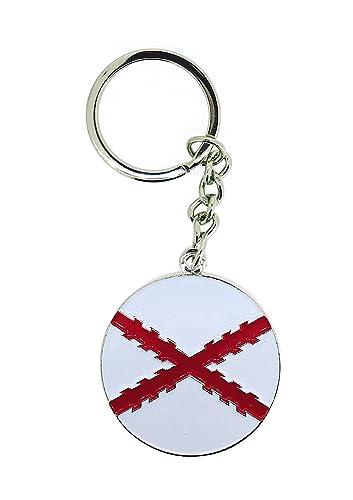 Llavero Cruz de Borgoña Bandera de España Antigua Redonda