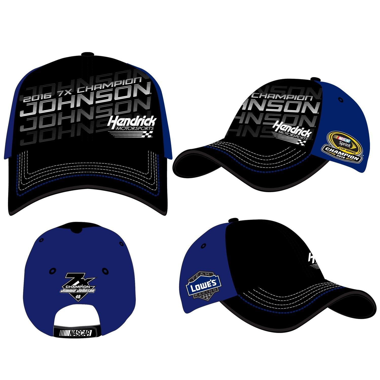 【 開梱 設置?無料 】 2016 Jimmie Johnson Lowe Sprint 's 's 7 x Nascar Sprint B01N6NK4NM Cup Champion Adjustableキャップ/帽子 B01N6NK4NM, ホビーショップてづか:f519b63a --- arianechie.dominiotemporario.com