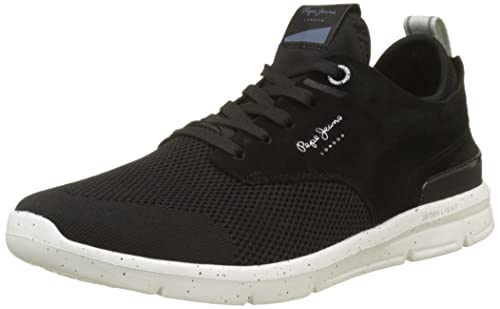 Mens Jayden Tech Trainers, 999-Black Pepe Jeans London